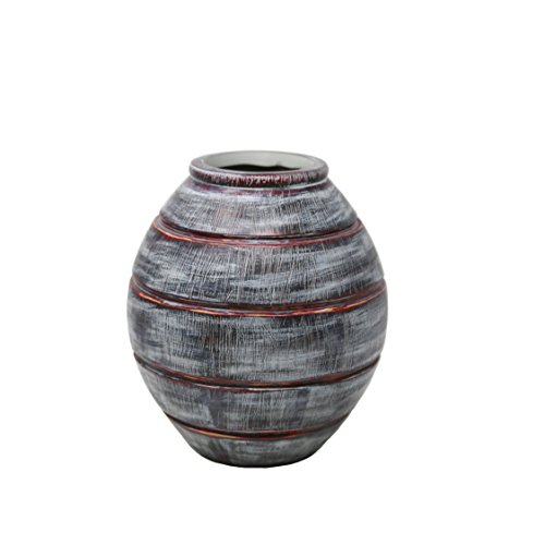 Sagebrook Home 12476-05 Decorative Resin Vase Polyresin, 8.75 x 8.75 x 10.25 Inches, ()