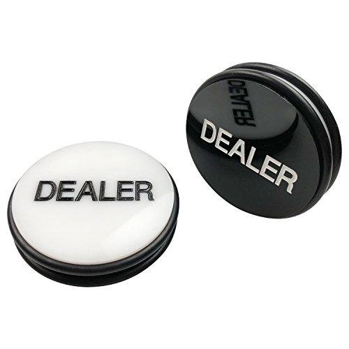 YH Poker Double-Sided Casino Grade Poker Dealer Button Puck 3 Inch Diameter