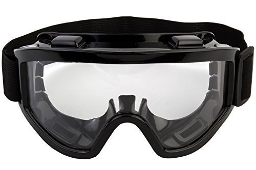 Vachan Creation Industrial Transparent Safety Goggle Dust-Proof Windproof Riding Labor Protection Polish Goggles with Anti-Fog/Anti-Scratch Coating Wide-Vision Lab - Black (B07P8J1R8G) Amazon Price History, Amazon Price Tracker