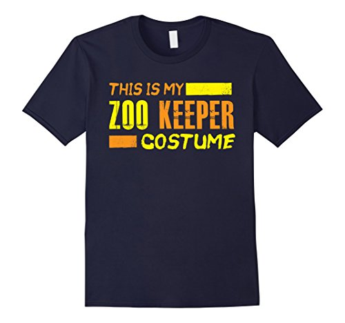 Mens This is my Zoo Keeper Costume Funny Halloween Holiday Shirt Small (Zoo Keeper Costume Men)