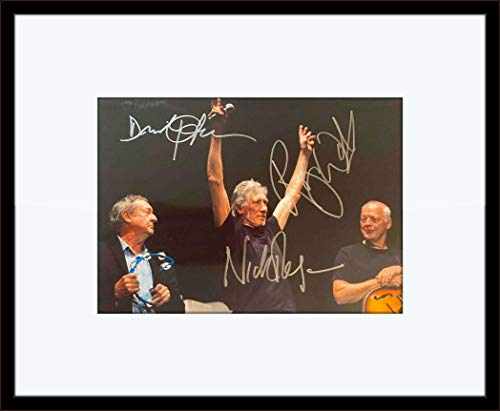 Framed David Gilmour Roger Waters Nick Mason Pink Floyd Autograph with Certificate of Authenticity