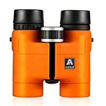 BNISE Asika 8x32 HD Binoculars - Military Telescope for Hunting and Travel - Compact Folding Pocket Size - High Clear Vision - Orange