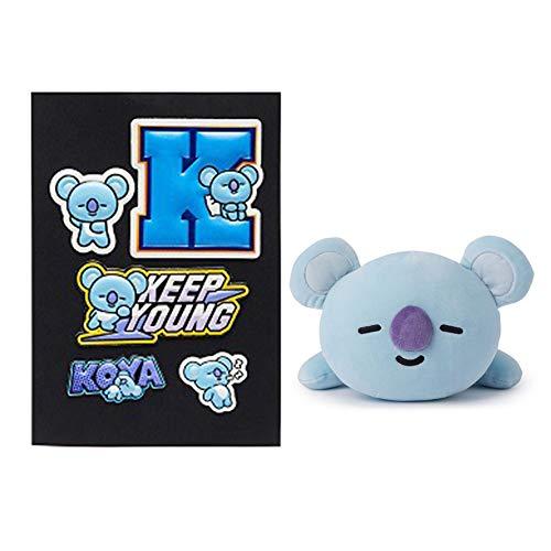 Nuofeng - Kpop BTS Cartoon Pillow Doll, Nap Pillow + 3D Bubble Sticker, Gift for A.R.M.Y(KOYA)
