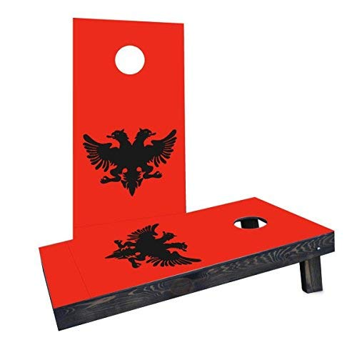 新品本物 Custom Cornhole CCB1485-2x4-C Boards CCB1485-2x4-C Albania National Flag [並行輸入品] Cornhole Boards Flag [並行輸入品] B07HLFMY83, でに丸:bd83c401 --- arianechie.dominiotemporario.com