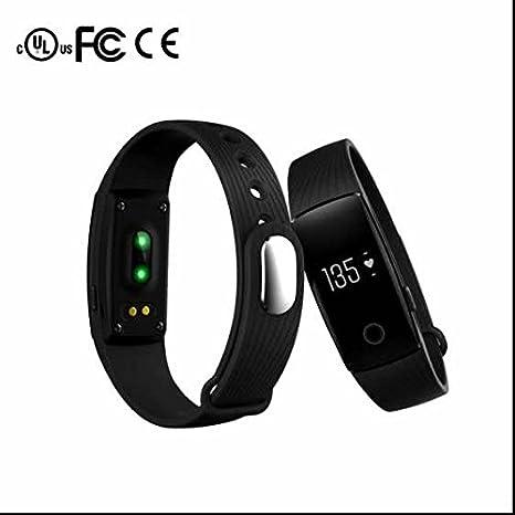 Pulsera Deporte Reloj Inteligente, Smartwach de fitness reloj inteligente para Apple Samsung HTC iPhone, monitor de ritmo cardíaco Smartwatch, ...