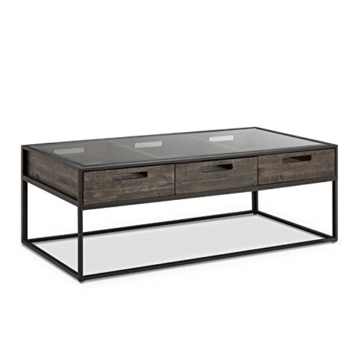 Magnussen T4034-43 T4034 Claremont Transitional Weathered Charcoal Rectangular Coffee Table (Coffee Display Case Table)