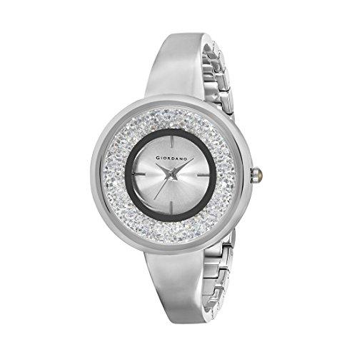 Giordano Analog Silver Dial Women Watch