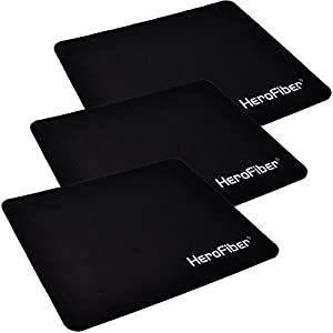 HeroFiber Highly Accurate Ultra Thick 3mm Non Slip Mouse Pad (3 pack)