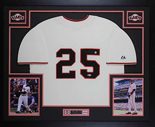 - Barry Bonds Autographed Cream San Francisco Giants Jersey - Beautifully Matted and Framed - Hand Signed By Barry Bonds and Certified Authentic by Beckett - Includes Certificate of Authenticity