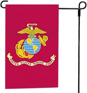"product image for Valley Forge, Marine Corps Garden Flag, Nylon, 12""x18"", 100% Made in America, Printed, Sleeved Garden Flag"
