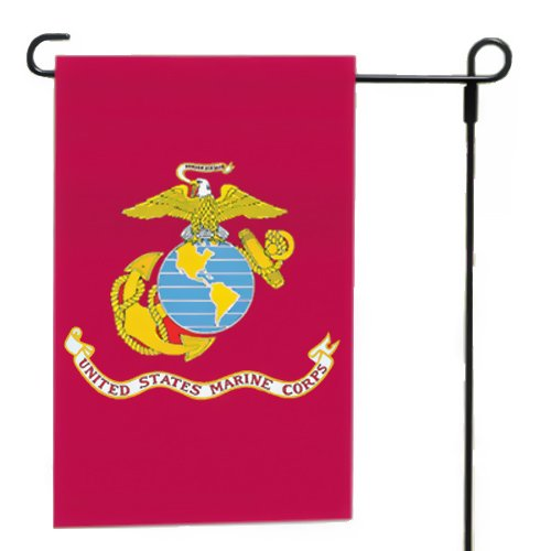 "Valley Forge, Marine Corps Garden Flag, Nylon, 12""x18"", 100% Made in America, Printed, Sleeved Garden Flag from Valley Forge"