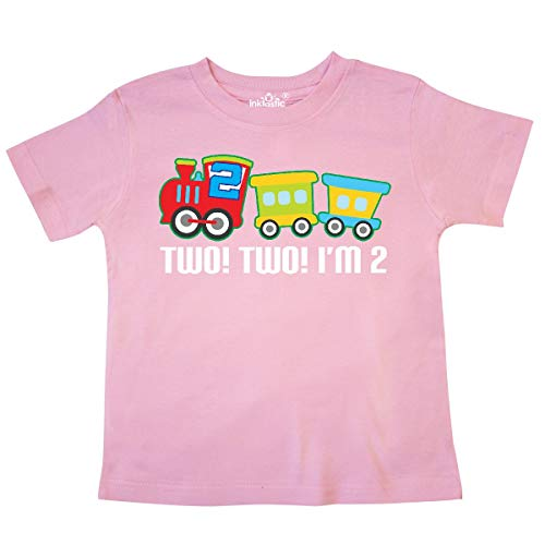inktastic - 2nd Birthday Two Two Train Outfit Toddler T-Shirt 2T Pink 257f6
