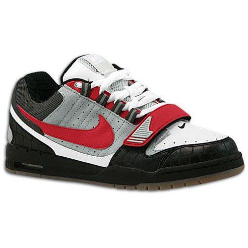 Nike Mens Air Heist Neutral Grigio / Varsity Rosso-nero-bianco 317762-061 Scarpa