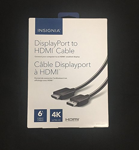 Insignia 1.8 m (6 ft.) DisplayPort/HDMI Cable (NS-PD06502-C)