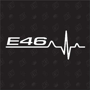 speedwerk-motorwear E46 - Pegatina para BMW con diseño de Latido de Corazones: Amazon.es: Coche y moto