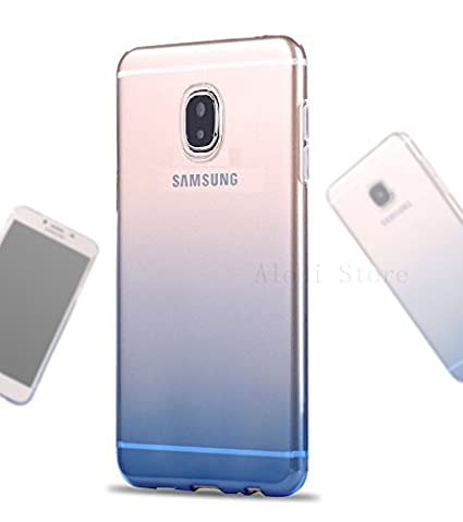buy popular da5fd 7ae18 LOXXO Silicone Soft Slim Back Cover for Samsung J7 Pro (Gradient Pink)