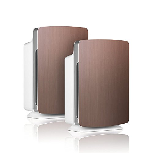 Alen-BreatheSmart-FIT50-Customizable-Air-Purifier-with-2-HEPA-Pure-Filter-for-Allergies-and-Dust-Brushed-Bronze-Smart-Bundle-Pure-2-Pack