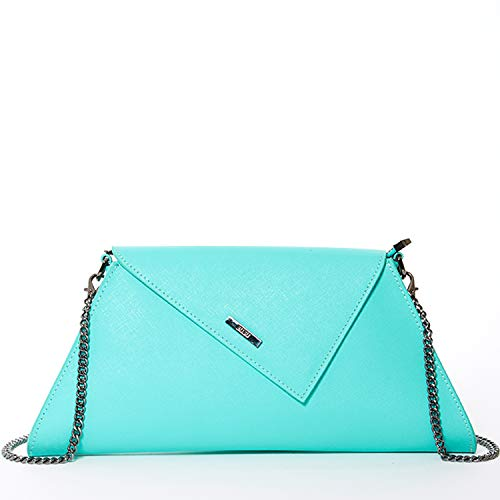 Clutch Purse Summer Clutches for Women Envelope Handbags Turquoise Dressy Leather Evening Bag Prom Party Purses with Chain Strap Mint Green Wedding Crossbody Aqua Fashion Designer Bridal Hand -