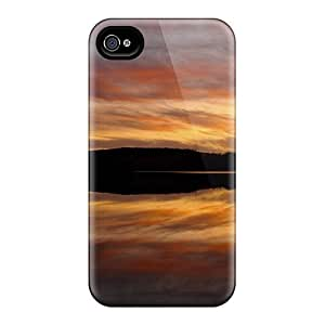 Durable Cases For The Iphone 5/5S - Eco-friendly Retail Packaging(sunset Landscapes Nature Reflections)