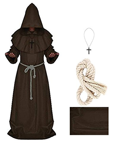 5 Color Pastor Cosplay Costume Medieval Renaissance
