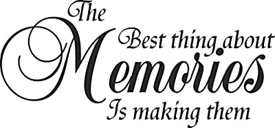 FAWER The Best Thing About Memories wall art sticker