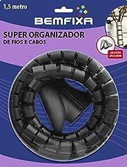 Super Organizador De Fios E Cabos Mais Bemfixa Preto 22mm