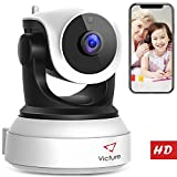 【NEW VERSION】Victure WiFi IP Camera 720P HD Wireless Indoor Home Security Surveillance Camera with Night Vision Motion Detection Playback 2-Way Audio Dome Home Monitor for Baby Elder Pet Pan/Tilt/Zoom