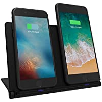 Soarking Foldable Dual Wireless Charging Pad Cellphone Stand Station