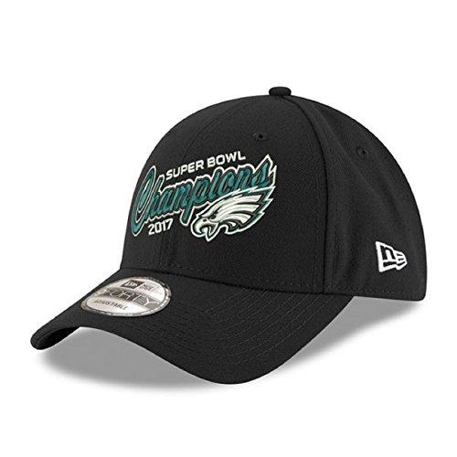 Super Bowl Champions Cap (New Era Philadelphia Eagles Super Bowl Lii Champions 9TWENTY Adjustable Hat – Black)