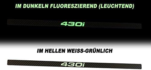 2 Leuchtende Zierleisten Für Kennzeichenhalter Phosphor Nummernschild Wunschtext Auto