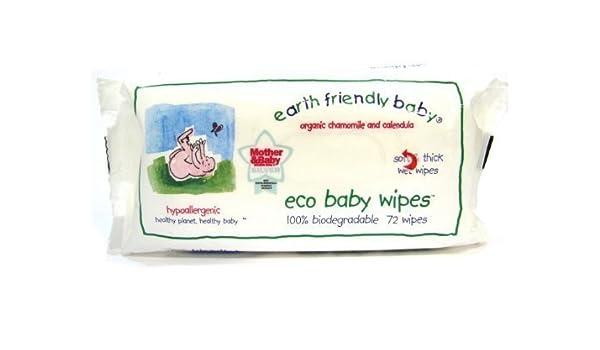 1 x Earth friendly bebé Orgánica Manzanilla y Caléndula Eco bebé Toallitas - 72 toallitas: Amazon.es: Salud y cuidado personal