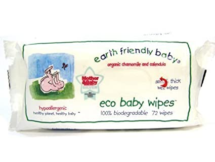 1 x Earth friendly bebé Orgánica Manzanilla y Caléndula Eco bebé Toallitas – 72 toallitas