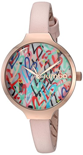RumbaTime Women's Orchard Love Japanese-Quartz Watch with Leather Strap, Pink, 8 (Model: -