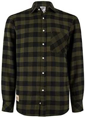 Kawasaki a Cuadros Camisa de Hombre Verde/Negro - 2XL: Amazon.es: Coche y moto