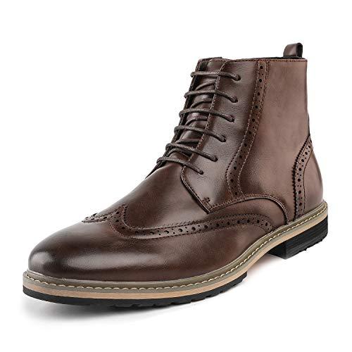 (Bruno Marc Men's Bergen_10 Brown Classic Dress Oxfords Boots Size 10.5 M US )