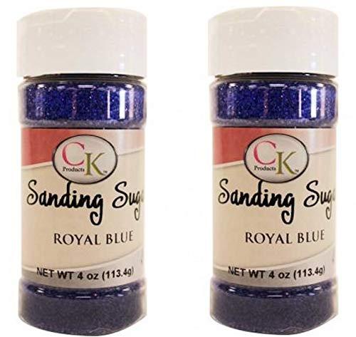 Sanding Sugar 4 Oz Bottle (Pack of 2) (Royal Blue)