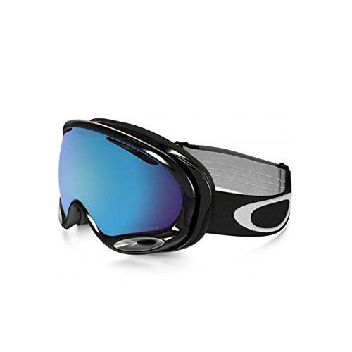 Oakley A-Frame 2.0 Goggle Jet Black with Prizm Sapphire Iridium Lens - Black A Oakley Iridium Frame