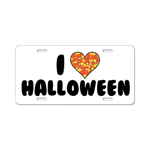 YEX Beautiful I Love Halloween License Plate Frame Car Licence Plate Covers Auto Tag Holder 6