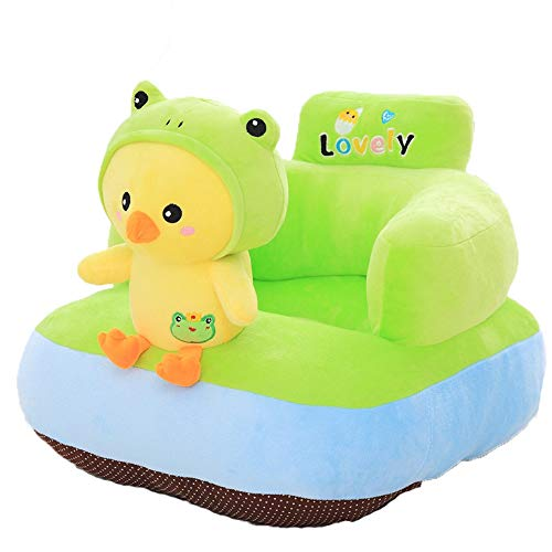 Jeterndy Learning to Sit On The Sofa Infant Support Seat Chair Cushion Sofa Cartoon Animal Plush Kids Toy Baby Sofa Protector Learning Sitting Chair Couch Bed Children Sofa Baby Seat