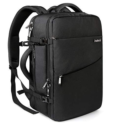 Inateck 40L Travel Backpack, Flight Approved Carry-On Luggage Backpack, Anti-Theft Laptop Rucksack Large Daypack Weekender Bag for 17'' Laptop - Black (Best Swiss Boarding Schools)
