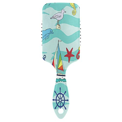 Hair Brush paddle comb Ships Wheel Seahorse Boats And for sale  Delivered anywhere in Canada