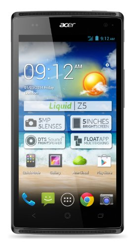 Acer Liquid Z5 Smartphone Dual Sim Android Gray 4GB 5MP DualCore