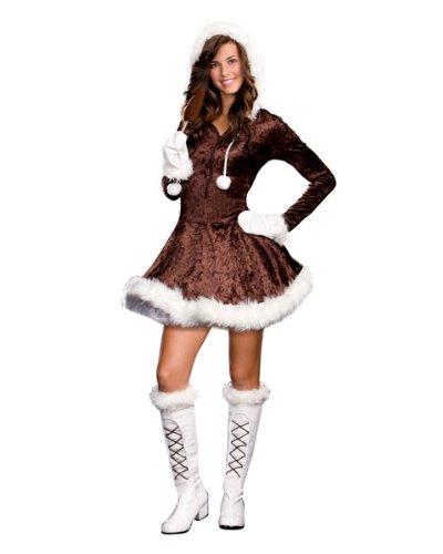 Eskimo Cutie Pie Junior Costume - Large - Brown -