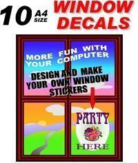 graphic about Printable Window Decals referred to as Inkjet Printable Window Gl Obvious Dangle Motion picture 300 micron 10 A4 Sheets