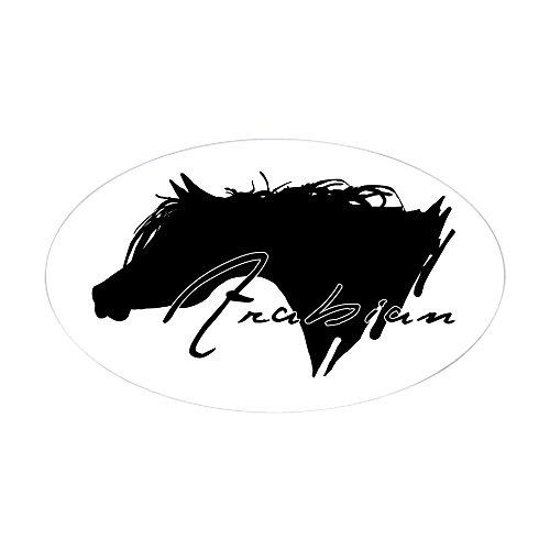 Arab Show Halter - CafePress Arabian Horse Oval Sticker Oval Bumper Sticker, Euro Oval Car Decal