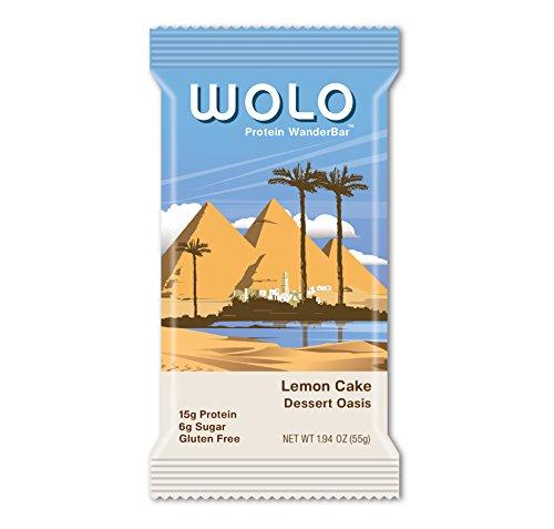 WOLO WanderBar, Lemon Cake, 12 Bars, All Natural Protein Bar, 15g Protein
