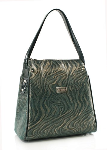 BOSCCOLO 4092-67-66-65-64-18 Schoulderbag, Damentaschen, Sac à main, LEDER Green
