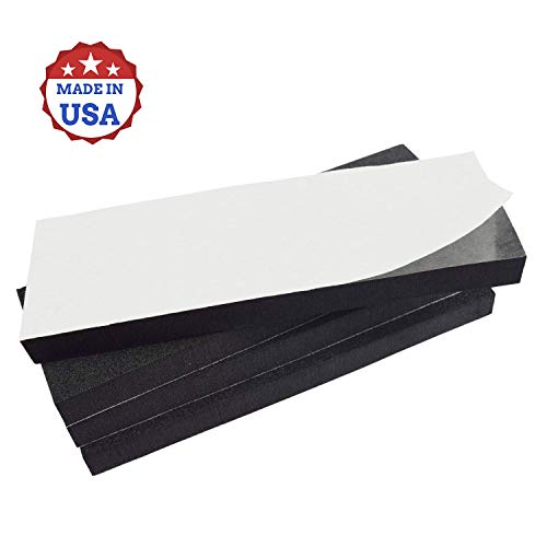 4 Pack Highly Versatile Thick Rubber Sheets, Garage Wall Protector, Marine Foam, Anti Skid and Vibration Pads, Great for Washing Machines and Stairs, Made in USA