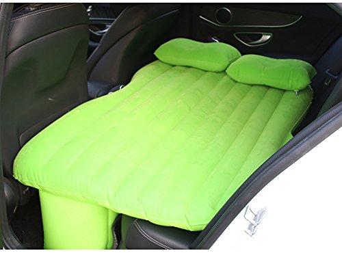 Auto aufblasbare Matratze ZCJB Auto-Schock-Matratzen-Auto-Beflockungs-aufblasbares Bett-Reise-Luft-Bett-Rücksitz-ausgedehnte Matratze Im Freien (Farbe   Grün)