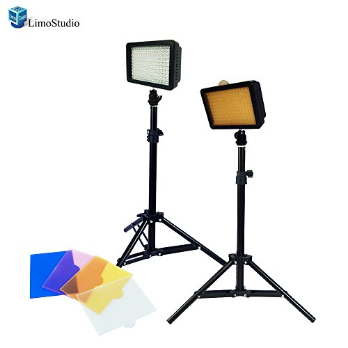 LimoStudio Dimmable 160 LED Video Light Lamp Panel for DSLR Camera DV Camcorder with 28'' Light Stand, AGG1502 by LimoStudio